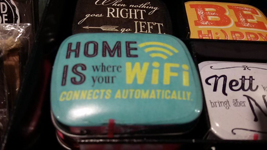 home is where the wifi...